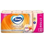 Туалетная бумага Zewa Deluxe Персик трехслойная 16шт - купить, цены на МегаМаркет - фото 2