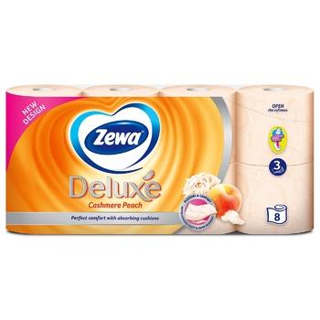 Туалетная бумага Zewa Deluxe Cashmere Peach трехслойная 8шт - купить, цены на МегаМаркет - фото 2