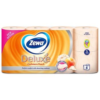 Туалетний папір Zewa Deluxe Персик персиковий трьохшаровий 8шт - купити, ціни на Восторг - фото 3