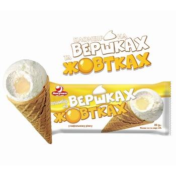 Мороженое пломбир Ласунка На сливках и желтках 80г - купить, цены на Фуршет - фото 2