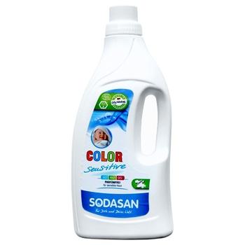 Средство Sodasan Color Sensitiv для стирки цветных и белых вещей для чувствительной кожи и детского белья 1.5л - купить, цены на Восторг - фото 2