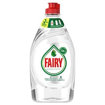 Жидкость для мытья посуды Fairy Pure & Clean 450мл - купить, цены на Фуршет - фото 6