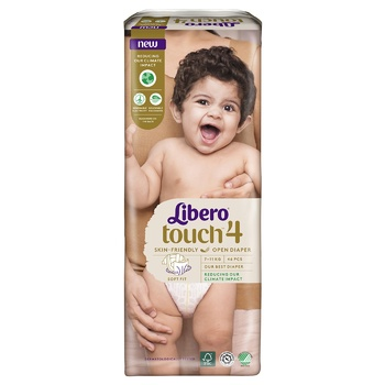 Libero Touch 4 diapers for children 7-11kg 46 pieces - buy, prices for MegaMarket - image 6