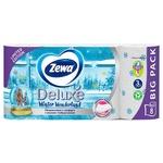 Туалетная бумага Zewa Deluxe Delicate Care белая 3-х слойная 8шт - купить, цены на Метро - фото 4