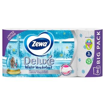 Папір туалетний Zewa Deluxe Delicate Care білий 3-х шаровий 8шт - купити, ціни на Восторг - фото 4