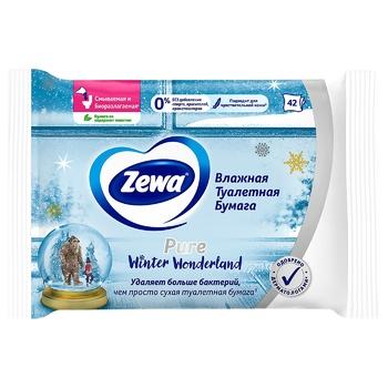 Туалетний папір Zewa Pure вологий 42шт - купити, ціни на МегаМаркет - фото 4