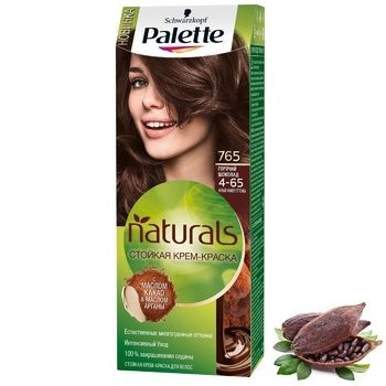 Palette Naturals 4-65 (765) Hot Chocolate Hair Dye 110ml - buy, prices for Auchan - photo 5