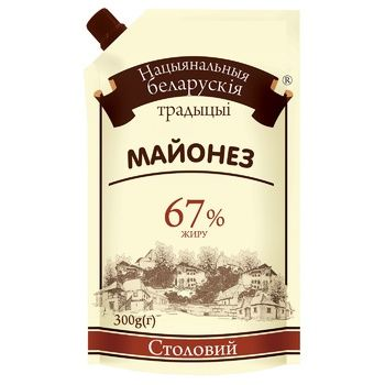 National Belarusian Traditions Stolovy Mayonnaise 67% 300g - buy, prices for Auchan - photo 1