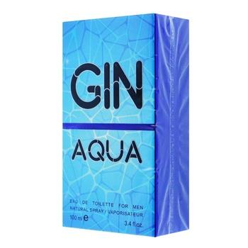 Туалетная Аромат Gin Aqua вода для мужчин 100мл