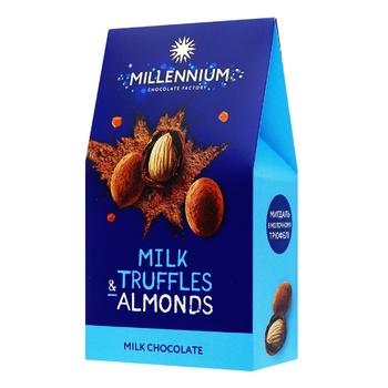 Конфеты Millennium Миндаль в молочном трюфеле 100г