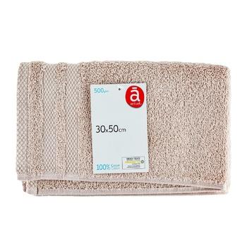 Полотенце Actuel Pearl хлопок 500GSM 30*50см - купить, цены на Ашан - фото 1