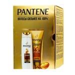 Набор подарочный Pantene Интенсивное восстановление Шампунь 250мл, бальзам 200мл - купить, цены на Ашан - фото 1