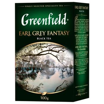 Чай черный Greenfield Earl Grey Fantasy с бергамотом 100г - купить, цены на ЕКО Маркет - фото 1