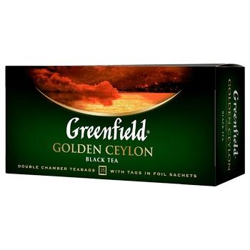 Чай чёрный Greenfield Golden Ceylon 2г х 25шт - купить, цены на Метро - фото 1