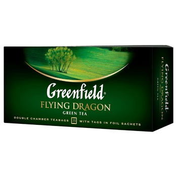 Чай зелений Greenfield Flying Dragon 2г*25шт - купити, ціни на ЕКО Маркет - фото 1