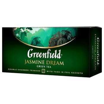 Чай зеленый Greenfield Jasmin Dream 25шт 2г - купить, цены на Novus - фото 2