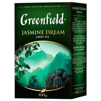 Чай Greenfield Jasmine Dream зеленый с жасмином листовой 100г - купить, цены на ЕКО Маркет - фото 1