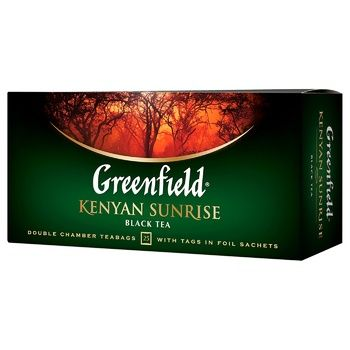 Greenfield Kenyen Sunrise Black Tea 2g*25pcs - buy, prices for EKO Market - photo 1