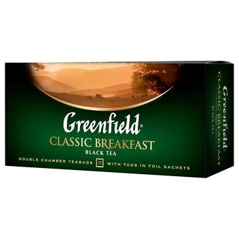 Чай черный Greenfield Classic Breakfast 2г*25шт - купить, цены на Метро - фото 1