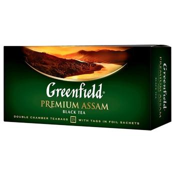 Чай чорний Greenfield Premium Assam 2г*25шт - купити, ціни на ЕКО Маркет - фото 1