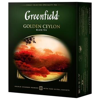 Чай черный Greenfield Golden Ceylon 2г 100шт - купить, цены на Ашан - фото 1