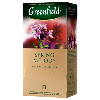 Greenfield Spring Melody Black Tea with thyme 25pcs 1,5g