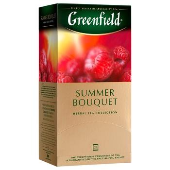 Чай трав'яний Greenfield Summer Bouquet зі смаком малини у пакетиках 2г x 25шт - купити, ціни на CітіМаркет - фото 2