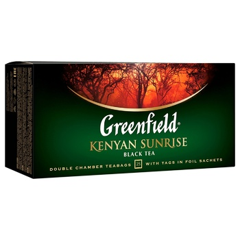Greenfield Kenyen Sunrise Black Tea 2g*25pcs - buy, prices for EKO Market - photo 2