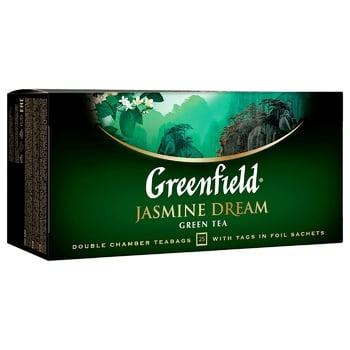 Чай зеленый Greenfield Jasmin Dream 25шт 2г - купить, цены на Ашан - фото 3