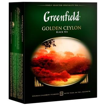 Чай черный Greenfield Golden Ceylon 2г 100шт - купить, цены на Ашан - фото 2