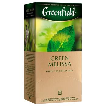 Чай зелений Greenfield Green Melissa 1,5г х 25шт - купити, ціни на Метро - фото 2