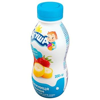 Йогурт Агуша клубника-банан 2,7% 200г - купить, цены на СитиМаркет - фото 2