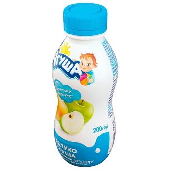 Йогурт Агуша для детей яблоко-груша с 8 месяцев 2.7% 200г - купить, цены на ЕКО Маркет - фото 2
