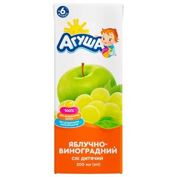 Agusha Apple-Grape Juice 200ml - buy, prices for CityMarket - photo 2