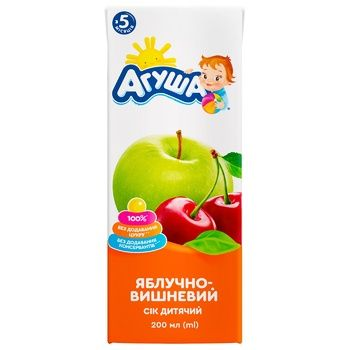 Agusha For Children From 5 Months Apples And Cherry Juice 200ml - buy, prices for CityMarket - photo 2