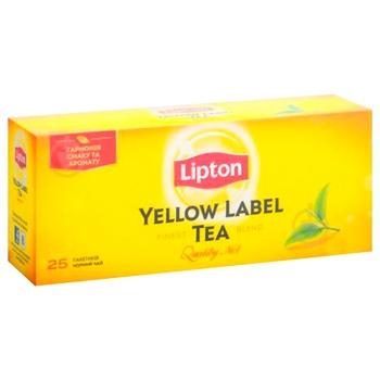 Чай черный Lipton Yellow Label байховый 25шт*2г - купить, цены на СитиМаркет - фото 3