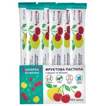 Пастила фруктовая Вишня и яблоко 15г - купить, цены на Ашан - фото 2