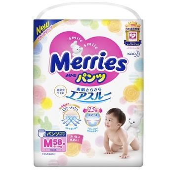 Трусики-подгузники Merries M 6-11кг 58шт