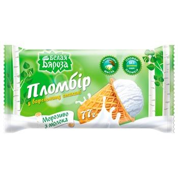 Мороженое Белая Бяроза пломбир в сахарном стакане 70г - купить, цены на Космос - фото 2