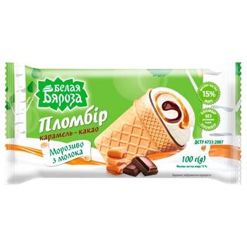 Belaya Byaroza Ice Cream Caramel-Cocoa 90g - buy, prices for CityMarket - photo 2
