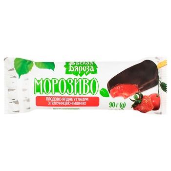 Мороженное Белая Бяроза Плодово-ягодное в глазури с клубникой-вишней 90г - купить, цены на Восторг - фото 2