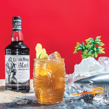 Captain Morgan Black Spiced Based on Caribbean Rum Spirit Drink 40% 1l - buy, prices for Auchan - photo 2