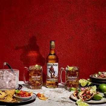 Напиток алкогольный Captain Morgan Spiced Gold на основе Карибского рома 35% 1л - купить, цены на Novus - фото 2
