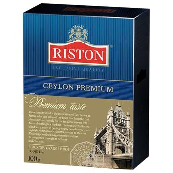 Чай чорний Riston Ceylon Premium крупнолистовий 100г
