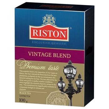Чай чорний Riston Vintage Blend 100г