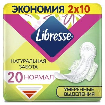 Libresse Natural Care Normal hygienical pads 4 drops 20pcs - buy, prices for EKO Market - photo 1