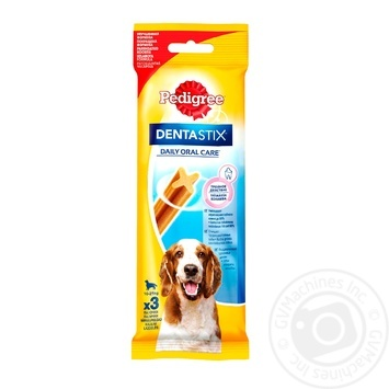Лакомство Pedigree Denta Stix Кость для чистки зубов для собак 77г