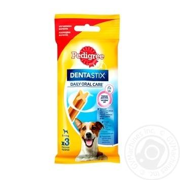 Кость Pedigree Denta Stix для собак малых пород 45г - купить, цены на Ашан - фото 1