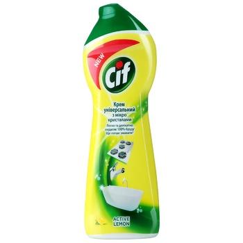 Чистящий крем Cif Active lemon Универсальный 250мл - купить, цены на Ашан - фото 1