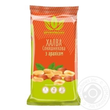 Халва соняшникова з арахісом Дружківська 300г - купить, цены на Novus - фото 1